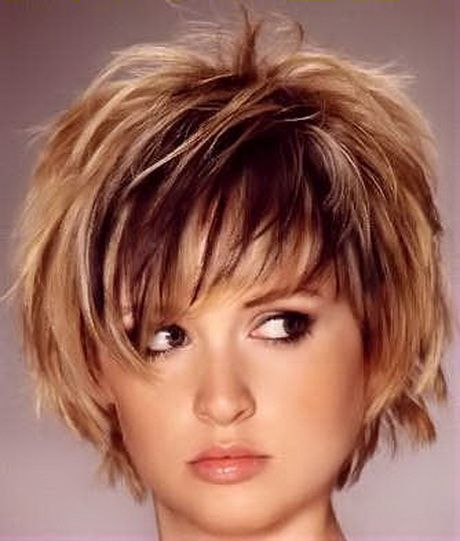 Short Layered Haircuts Fine Hair Short Hair Styles For Round Faces Hair Styles Thick Hair Styles
