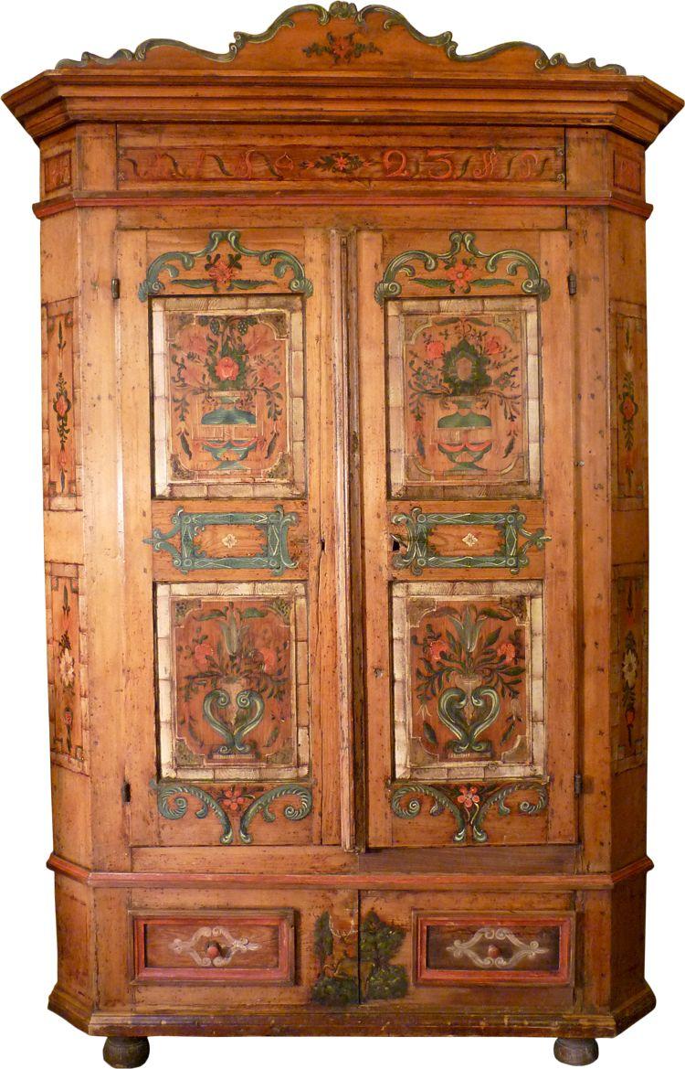 Armadi Tirolesi Dipinti mobili e quadri antichi - mobili tirolesi - dipinti del 900