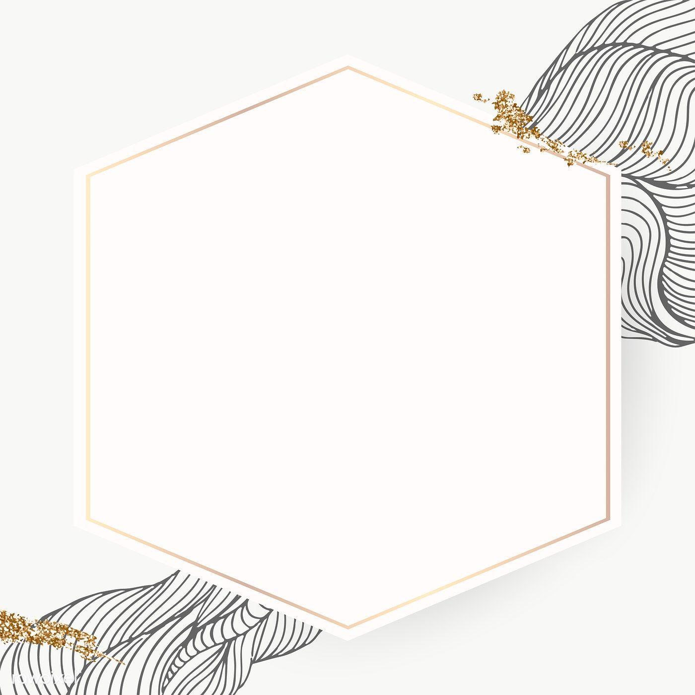 Golden Hexagon Frame Transparent Png Premium Image By Rawpixel Com Adj Hexagon Framed Wallpaper Abstract Art Wallpaper