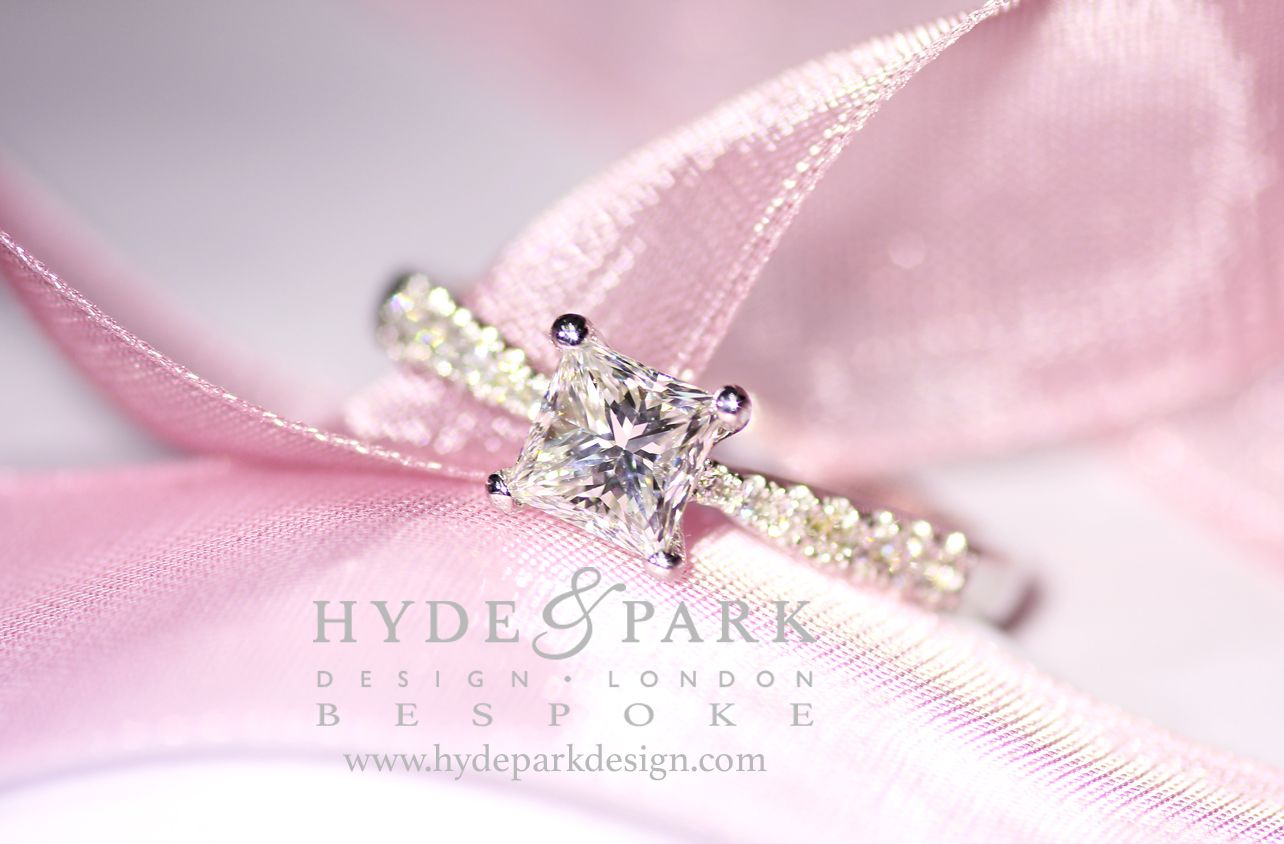 A beautiful #PrincessCut #EngagementRing created by out ...