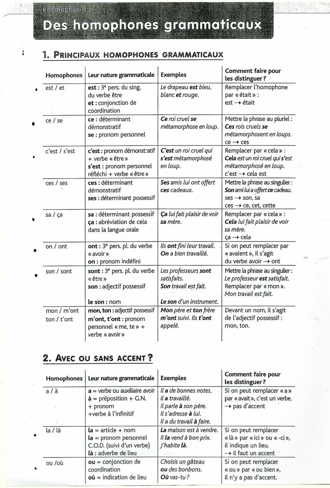 Distinguer Les Homophones Madame Piller Francais Latin Les Homophones Enseignement Du Francais Verbe Etre