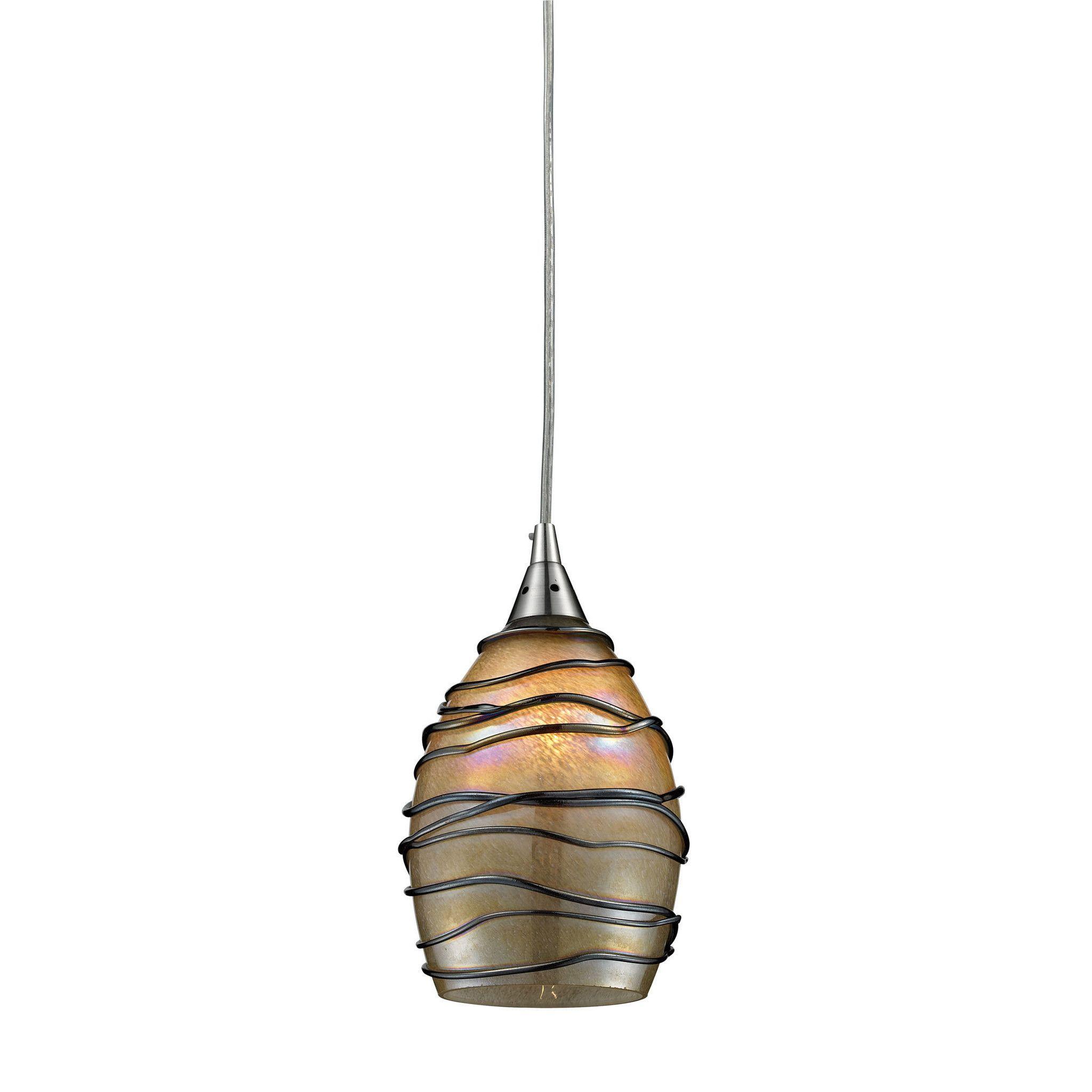 ELK Lighting 1 LED Vines Collection Satin Nickel Finish