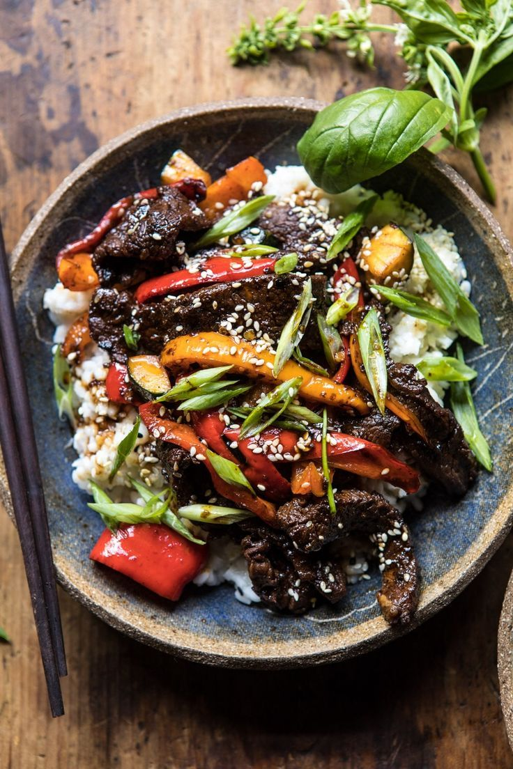 Photo of 30 Minute Korean Beef and Peppers with Sesame Rice. – Half Baked Harvest
