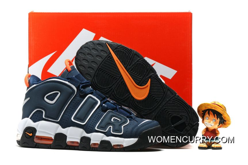 Nike Air More Uptempo Dark Obsidian Orange-White  472f1d3b9