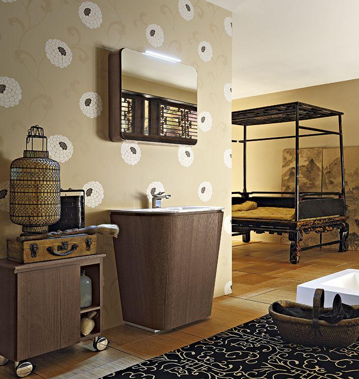 Bagno Suede con rifinitura legno tinto cacao http://www.cerasa.it ...