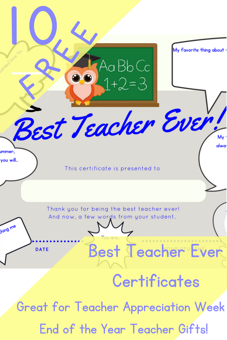 These Best Teacher Certificates Are Perfect For Teacher