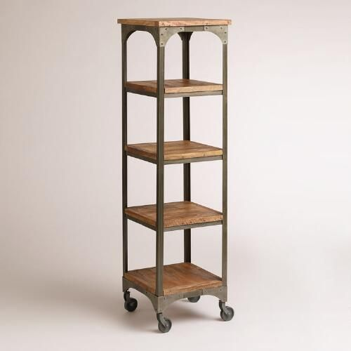 One of my favorite discoveries at WorldMarket.com: Wood and Metal Aiden Étagère