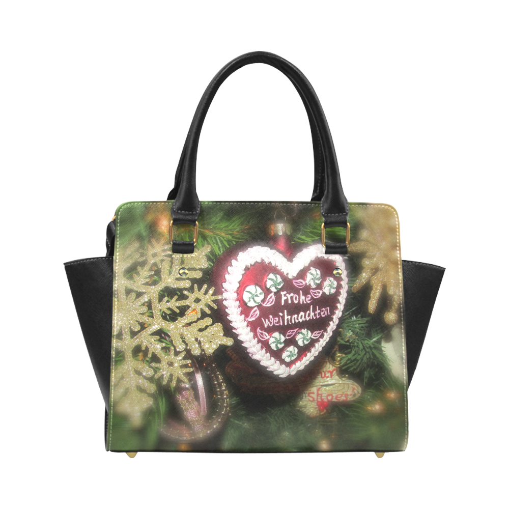 Xmas heart by Martina Webster Classic Shoulder Handbag (Model 1653)
