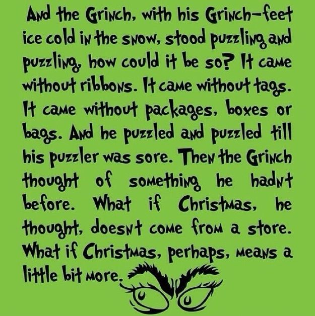 Christmas Eve The Grinch!