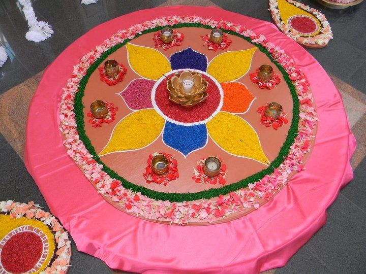 Welcome rangoli by INDS decor