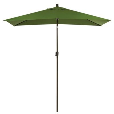 Buy 11 Foot Rectangular Solar Aluminum Patio Umbrella In Olive From Bed Bath Beyond Patio Aluminum Patio Large Patio Umbrellas