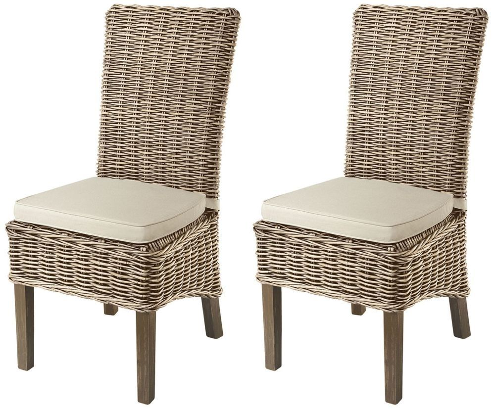 Clearance Half Price Rowico Maya Rattan Grey Wash Dining Chair