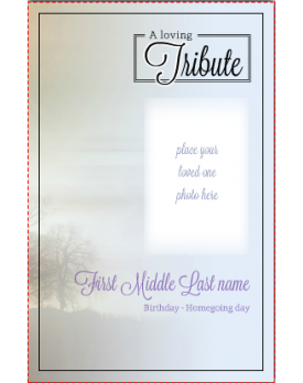 Leatherbound Sky Classic Template Front Panel  Funeral Template