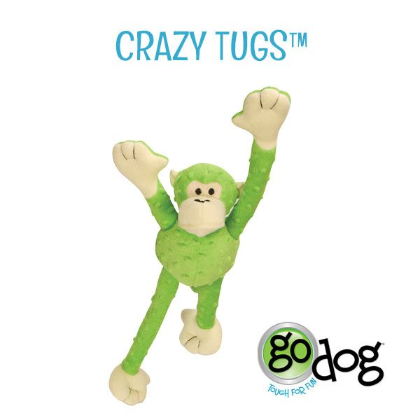 Godog Crazy Tugs Durable Plush Dog Toys Feature Arms And Legs That