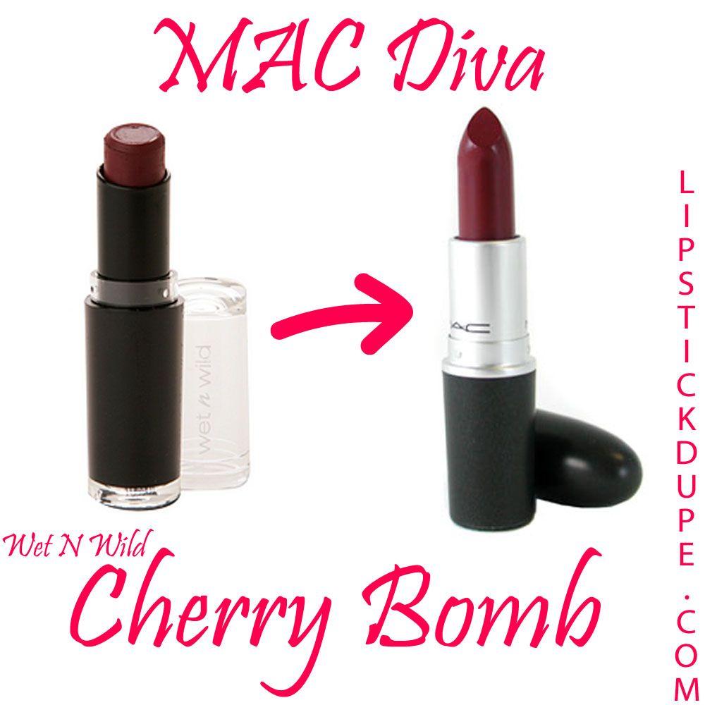 MAC Diva Lipstick Dupe Wet N Wild Cherry Bomb | Makeup | Pinterest ...