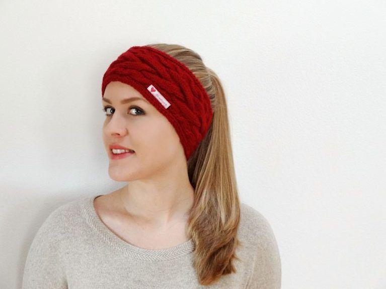 DIY-Anleitung: Stirnband mit Zopfmuster stricken via DaWanda.com ...