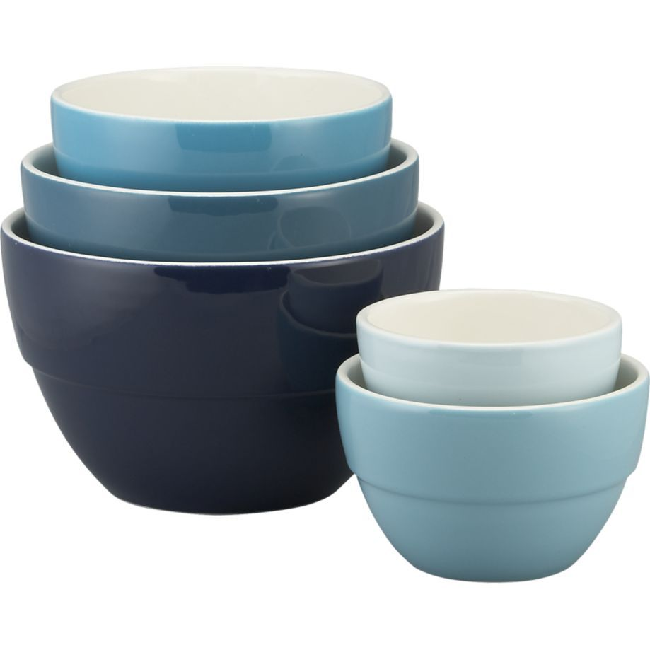 5 Piece 5 75 10 5 Market Bowl Set In Mixing Bowls Crate And Barrel Crate And Barrel Dining And Entertaining Bowl