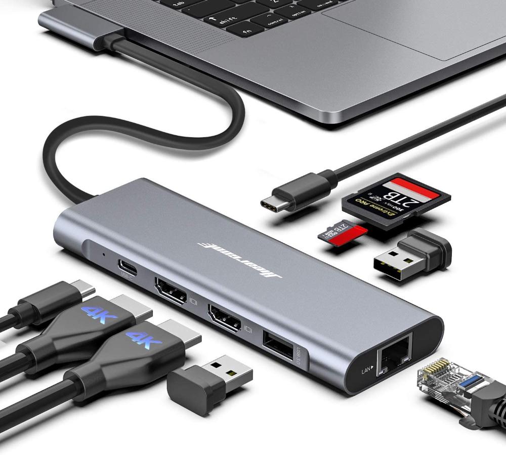 Amazonsmile Macbook Pro Docking Station 4k Triple Display Hiearcool 9 In 2 Laptop Docking In 2020 Macbook Pro Docking Station Laptop Docking Station Docking Station