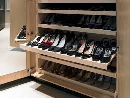 Image result for walk in robes, pull out shelves for shoes