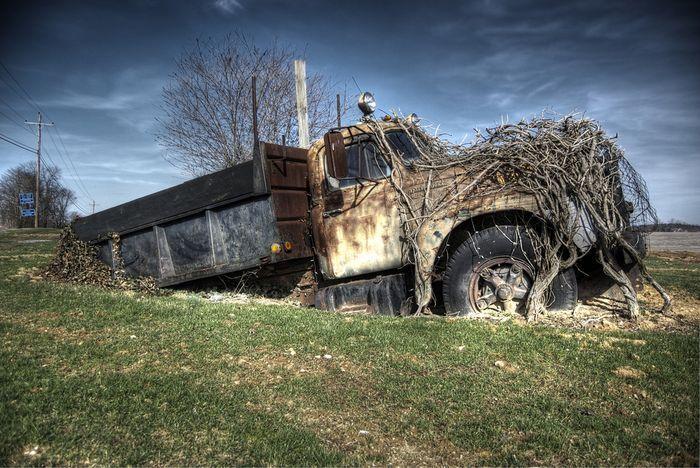 Заброшенные грузовые авто в россии фото