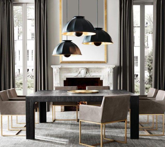 Esszimmer Wohndesign | Messing Holz Esstisch | Wohn Designtrend | Luxus  Möbel | Esstisch Samt