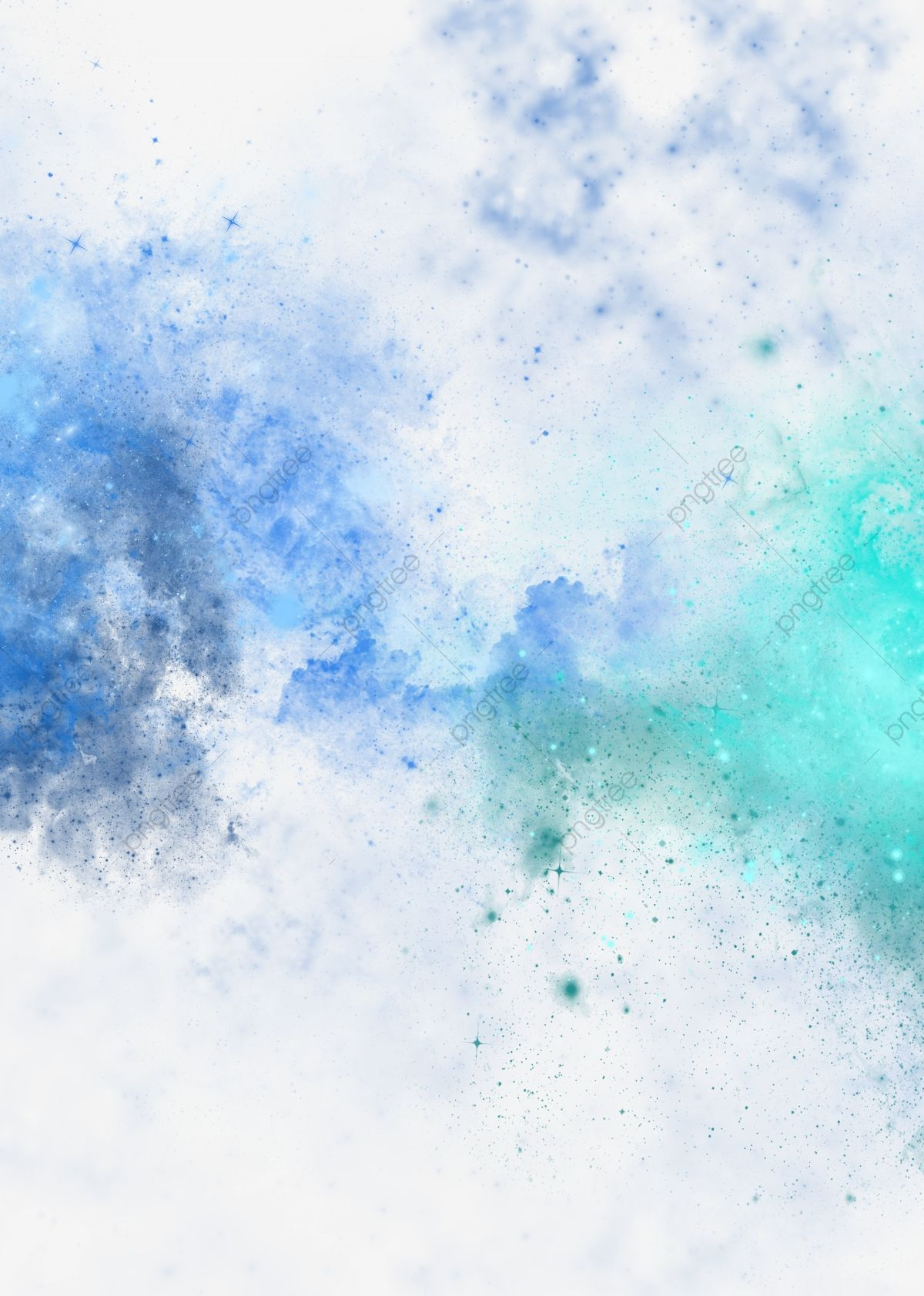 Fantasy Starry Colorful Powder Texture Effect Cool Powder Dusting