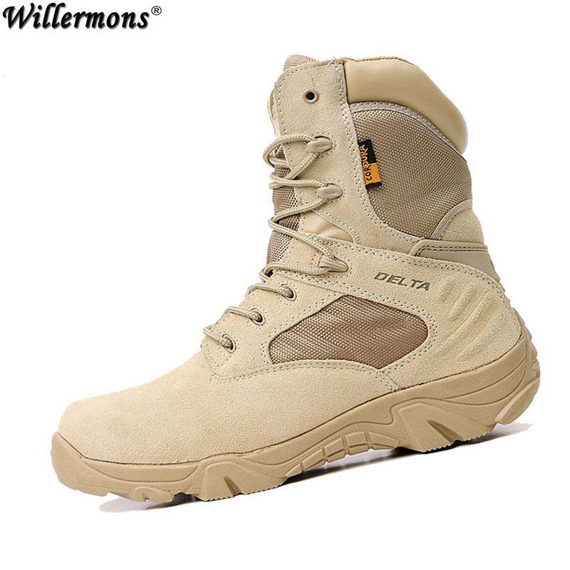 811f0905 Verano de Los Hombres de Camuflaje Del Desierto Botas Militares Botas de  Combate Del Ejército Táctico Militar Botas Hombre Al Aire Libre Sapatos  Masculino
