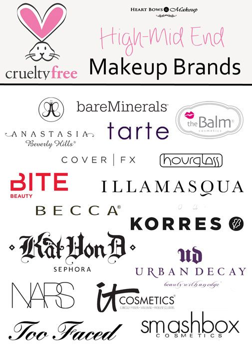 Cruelty Free Makeup & Cosmetic Brands: High End & Mid Range ...
