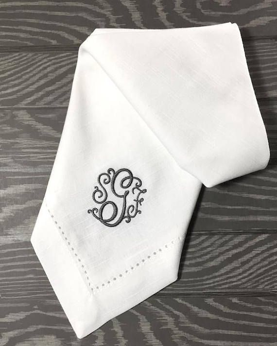 Florence Monogrammed Cloth Napkins /Set of 4/ personalized