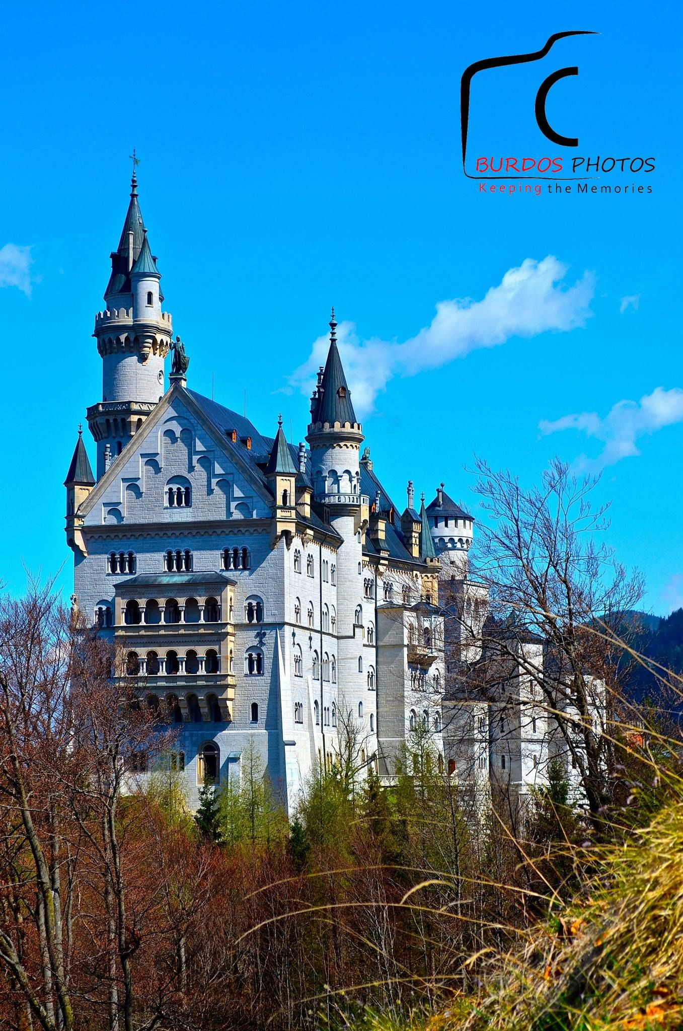 #Neuschwanstein Castle. The palace has appeared prominently in several movies and was the inspiration for Disneyland's Sleeping Beauty Castle and later, similar structures. — at Hohenschwangau, Germany.