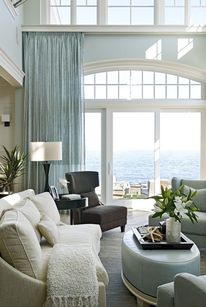 Ooooh, love the wide moulding for the arch windows. TMS Architects with beautiful ...