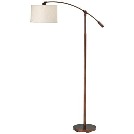 Kichler cantilever copper bronze finish floor lamp p5899 lampsplus com