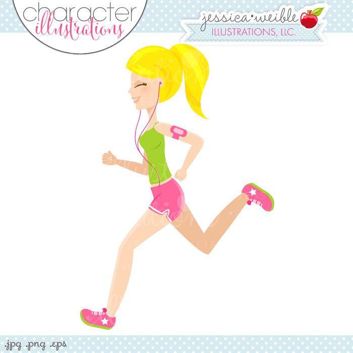 Cartoon Characters Yellow Hair : Blonde running girl character illustration yellow hair