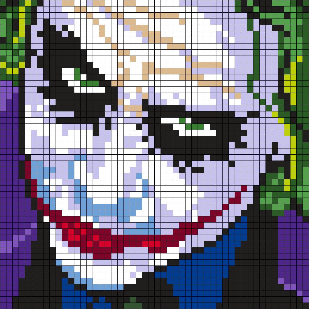The Joker Perler Bead Art By Nesrin Yilmaz Bugelperlen Hama