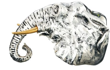 Curve Silver Bill Skinner Big Elephant Ring, I tried this on today, its stunning pic doesn't do it justice