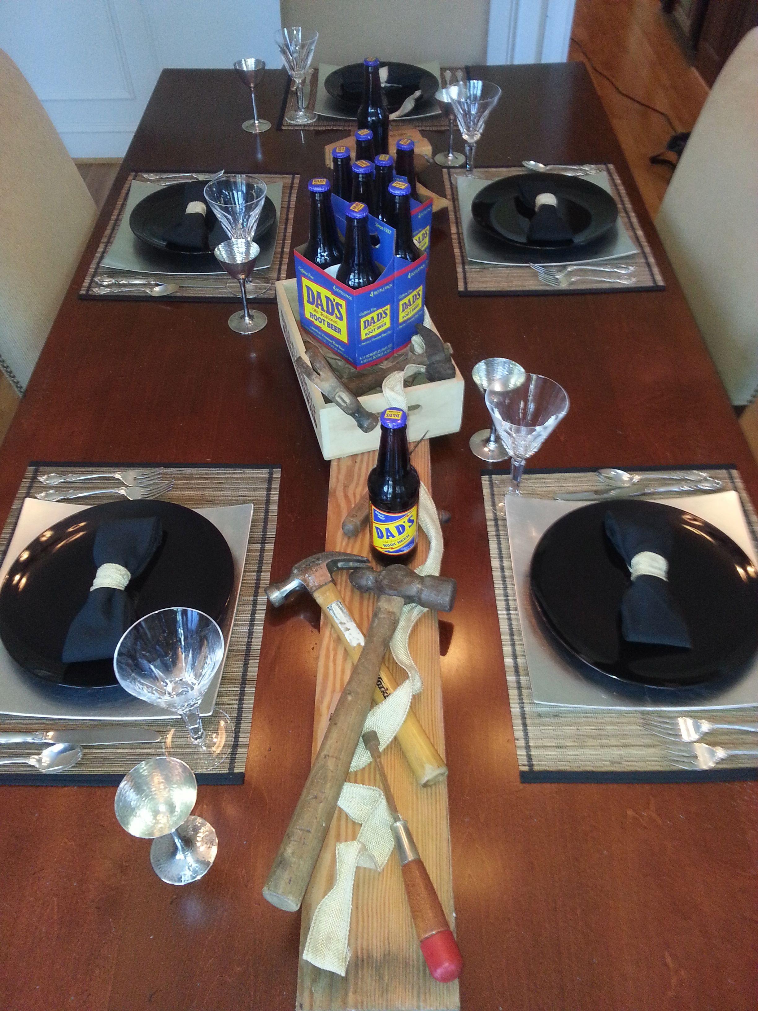 Fatheru0027s Day Table Setting & Fatheru0027s Day Table Setting | Table Settings | Pinterest | Craft ...