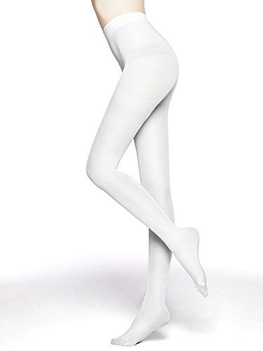 e8761321da1 MOOCHI Women 80 Denier Semi Opaque Tights (White) One Size in 2019 ...
