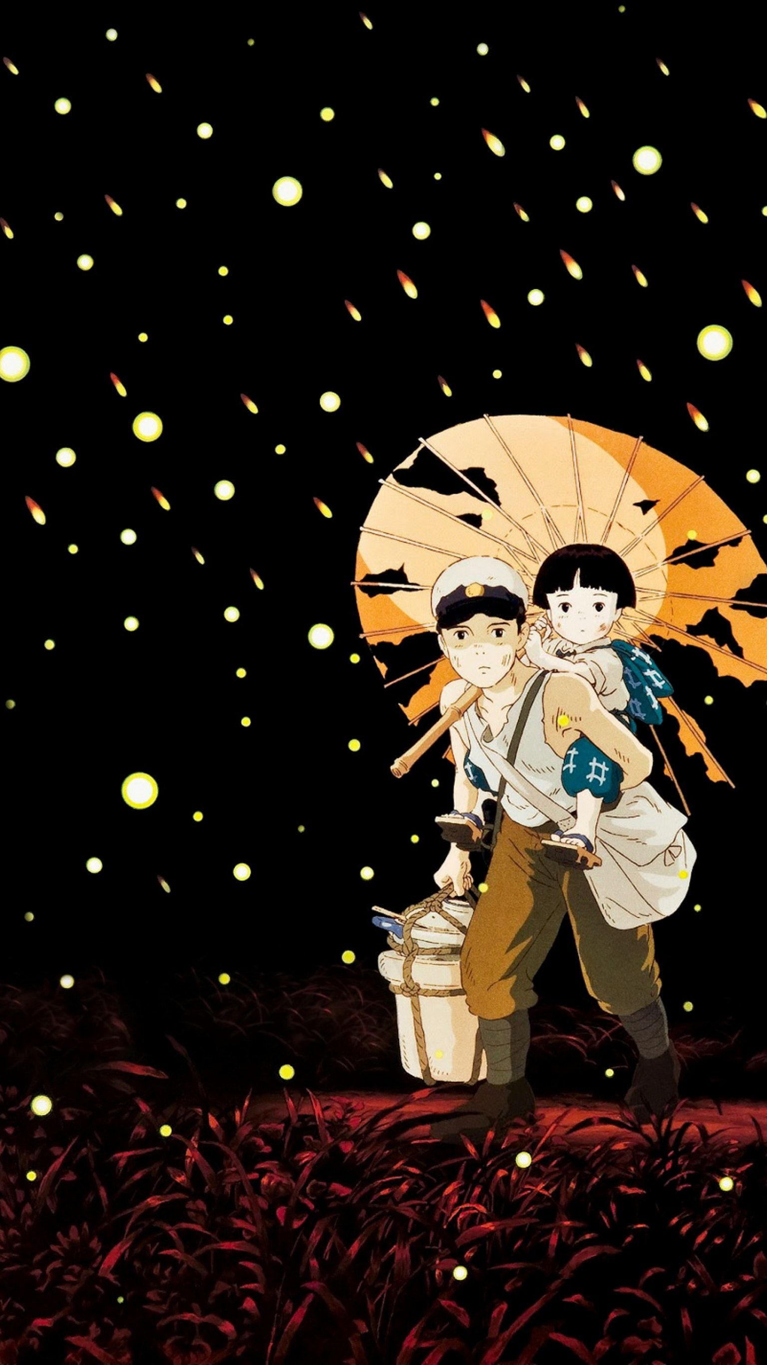 Grave of the Fireflies (1988) Phone Wallpaper Anime