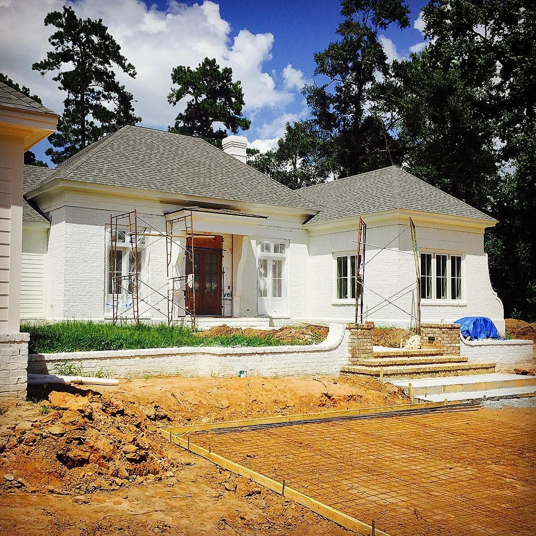 Sherwin Williams Alabaster Paint Painted Brick House House