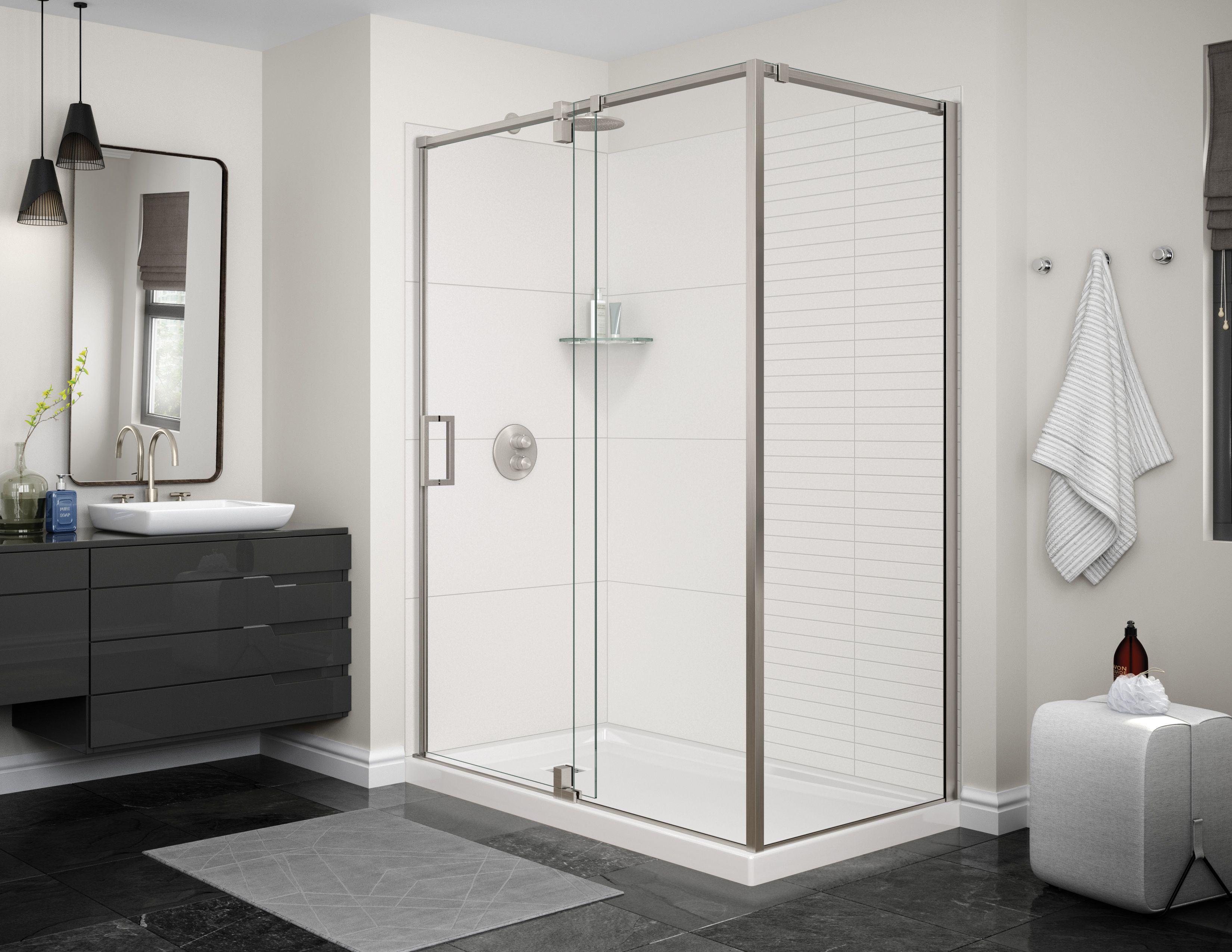 Utile by MAAX Bora White #maax #utile #shower #whitebathroom | Salle ...