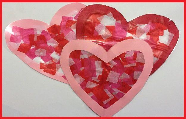 "Easy #ValentinesDay ""Glass"" #Heart Craft For Children"