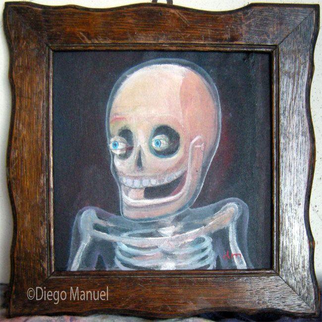 La risa del canalla. Pintura en la venta de la serie Pop Surrealista del artista…