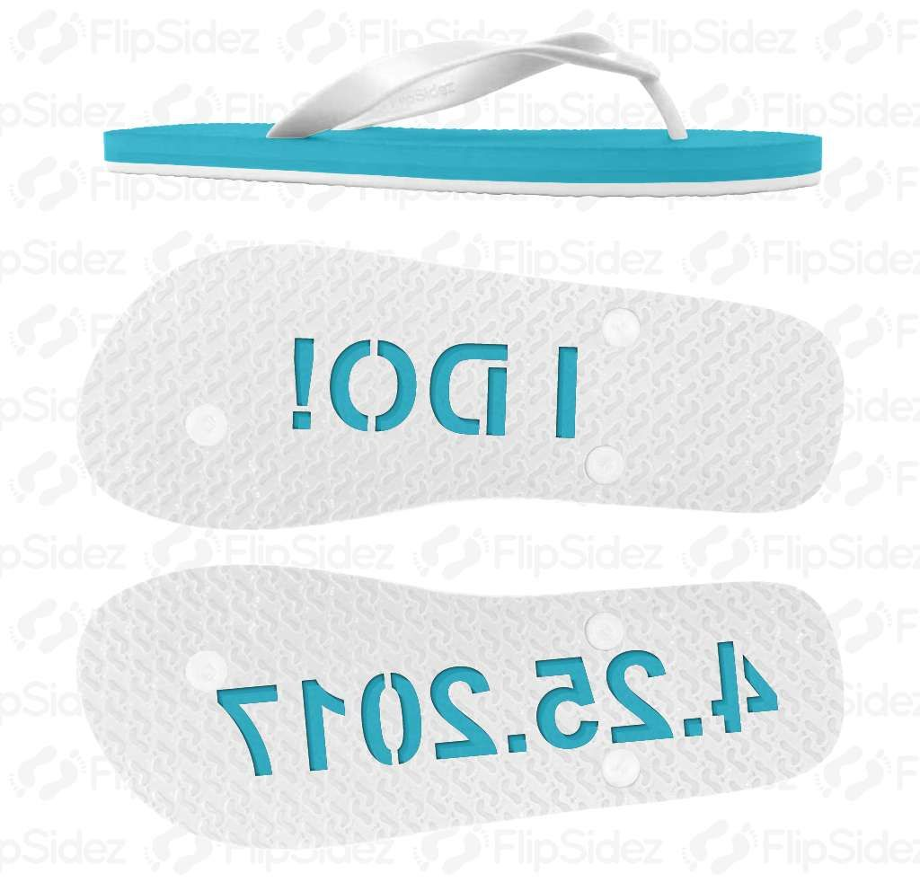 64971eadbf38 FlipSidez custom flip flops leave personalized imprints in sand with every  step. Customize flip flops with your name