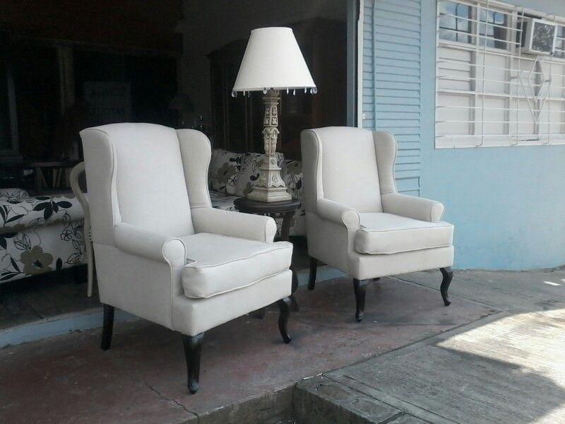 Preciosos sillones individuales tipo orej n tel fono 2238 0153 casa pinterest mesas - Sillones para recibidores ...
