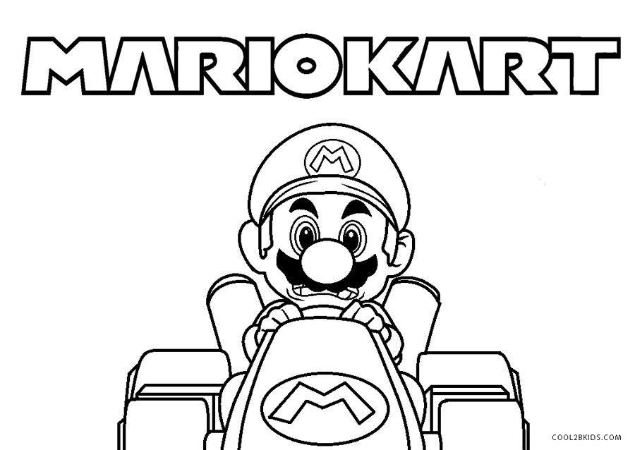 37++ Printable mario kart coloring pages info