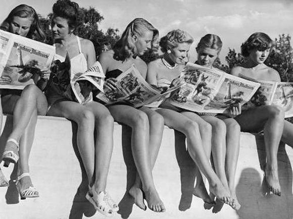 Just reading newspaper ;)