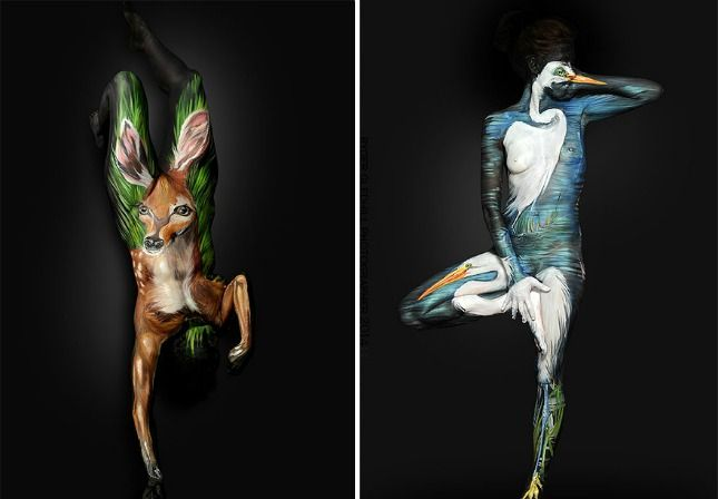 You Have To See How This Artist Transform Humans Into Animals Body Art Painting Body Painting Artists Body Painting