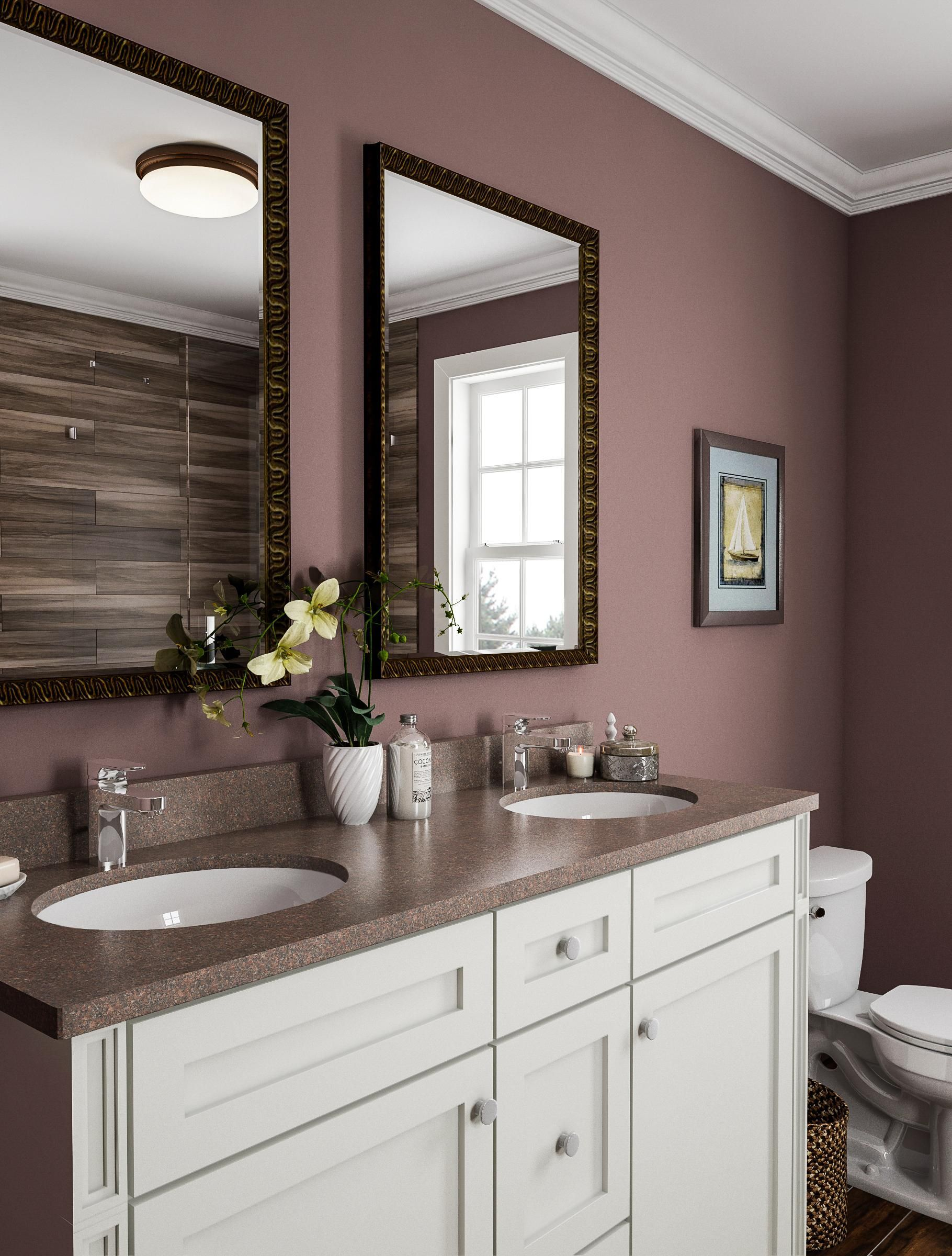 Here Are the Bathroom Paint Colors Designers Absolutely Love #whitebathroompaint