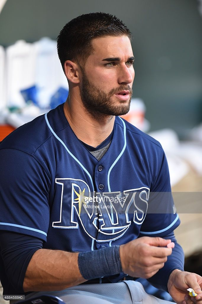 Kevin Kiermaier 39 Of The Tampa Bay Rays Looks On Before A Baseball Game Against The Baltimore Orioles At Hot Baseball Players Baseball Guys Baseball Players