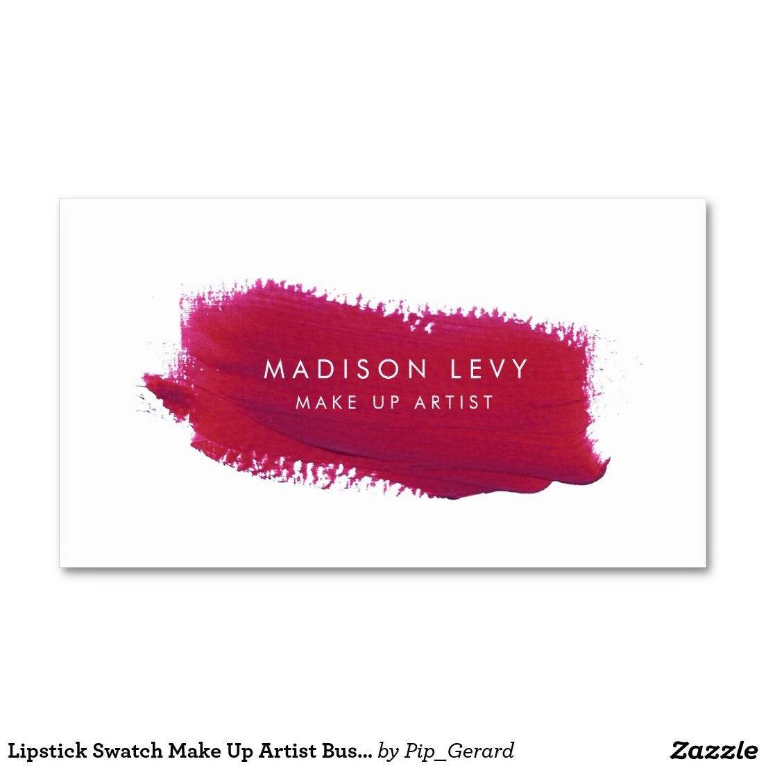 Lipstick Swatch Make Up Artist Business Cards | Business cards ...